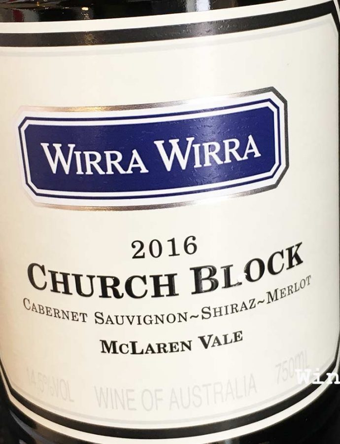 Wirra Wirra Church Block 2016