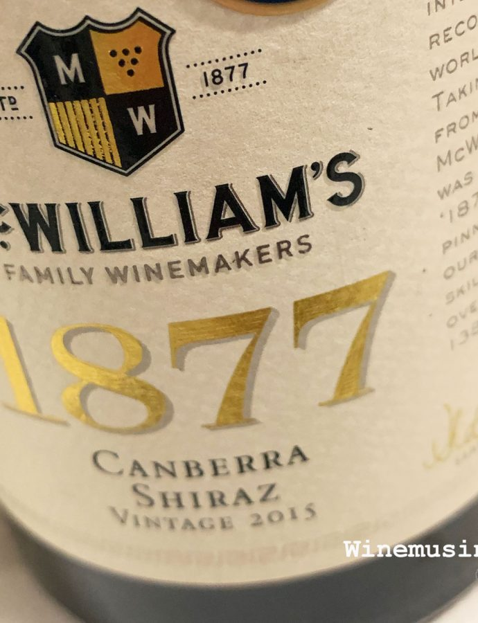 McWilliams 1877 Canberra Shiraz 2015