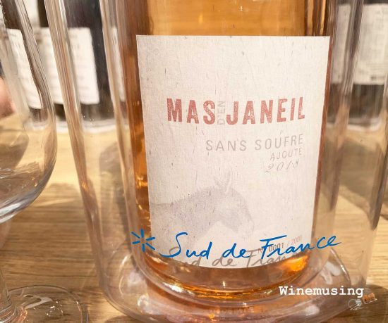Sulphur free rose wine from Mas Janeil