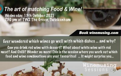 Food & Wine matching Session! BOOK NOW!
